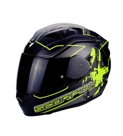 Scorpion Full helmet Exo 1200 High yellow -It comes with transparent visor-