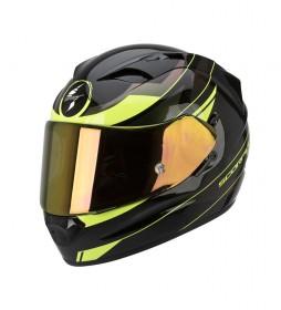 Scorpion Casco integral Exo 1200 Fulmen negro, amarillo