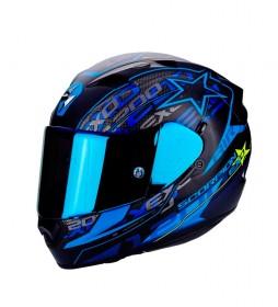 Scorpion 1200 casque Exo Solis est livré avec visière bleu transparent Il