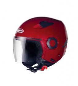 SHIRO HELMETS Helmet jet SHIRO SH-61 APP red metal