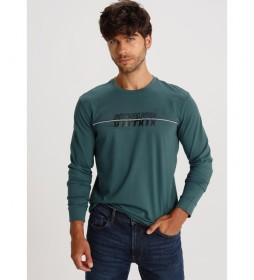Camiseta manga larga con puño Denmark verde