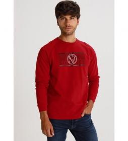 Camiseta  Rangla Pique Grafica rojo