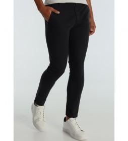 Pantalón Chino Saten Color Slim negro
