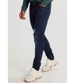 Pantalon Denim Dark Blue Rotos azul