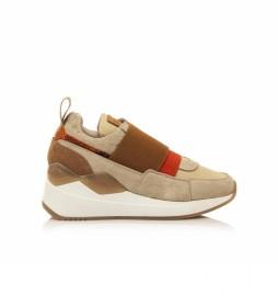 Zapatillas Cladeo marrón -Altura cuña: 5 cm-