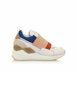 Zapatillas Cladeo blanco, multicolor -Altura cuña: 5 cm-