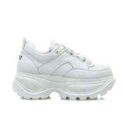 Zapatillas de piel Spice blanco -Altura plataforma: 6cm-