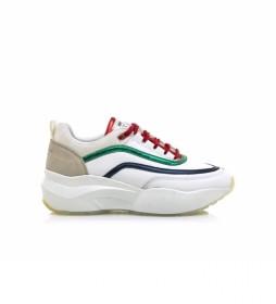 Zapatillas de piel 80027 blanco, multicolor