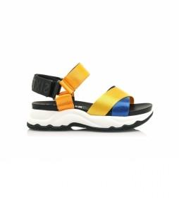 Sandalias Kyoto amarillo, naranja, azul