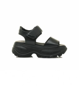 Sandalias Flash negro -Altura plataforma: 6,5 cm-