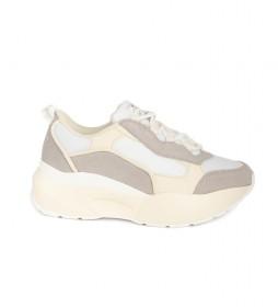 Zapatillas Mitali beige -Altura suela: 4.5cm-