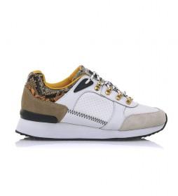 Zapatillas de piel Leonel blanco, marrón
