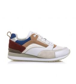 Zapatillas de piel Dakota blanco