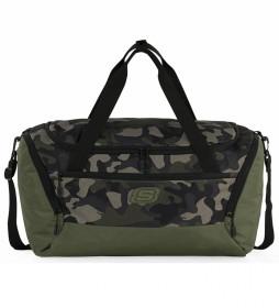 Bolsa deporte S1041 verde, camuflaje -50x28x28 cm-