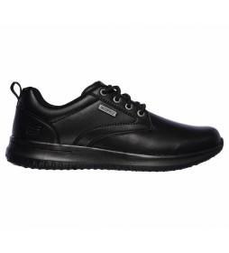 Zapatillas de piel Delson - Antigo negro