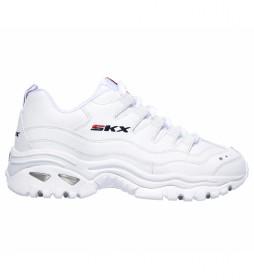 Zapatillas de piel Energy Timeless Vision blanco -Altura cuña: 5cm-