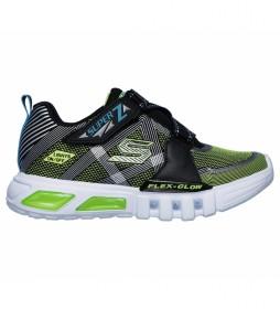 Zapatillas Flex-Glow - Parrox negro, verde