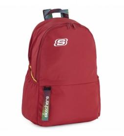 Mochila Bolsillo Interior Ipad Tablet S894 rojo -30x46x15cm-
