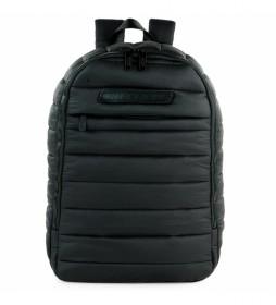 Mochila escolar S983 negro -28x40x15 cm-