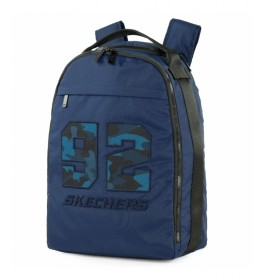 Mochila escolar S988 azul -31x42,5x16 cm-