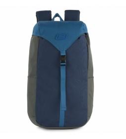 Mochila S1038 azul -26x46x14 cm-