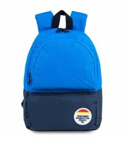 Mochila S909 azul -25x33x12cm-