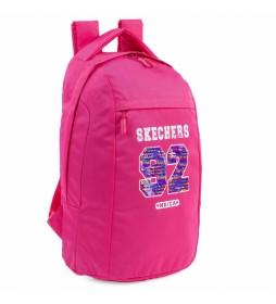 Mochila Casual Unisex Adulto S898 color rosa -21x32x12.5 cm-