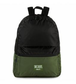 Mochila S981 negro, verde -29x40x16,5 cm-