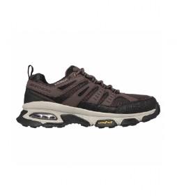 Zapatillas de piel Skech-Air Envoy marrón