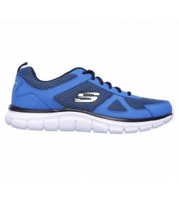 Zapatillas de piel Track - Bucolo azul