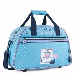 Bolsa Infantil de Deporte de Poliéster Con purpurina 131445 azul -45x28x20cm-