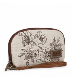 Bolso de Mujer Pequeño de Mano 301608 beige -13x21x5,5cm-