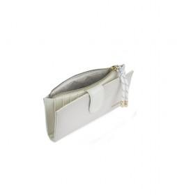 Cartera monedero 307621 -16,5x9x1cm- blanco