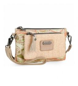 Mini bolso Skpat Annecy beige, rosa - 18,5x12x2,5cm -