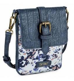 Bolso mujer 309021 azul -12,5x17x1,5 cm-