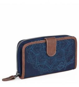 Monedero Cartera 304516 azul -9x16x1cm-