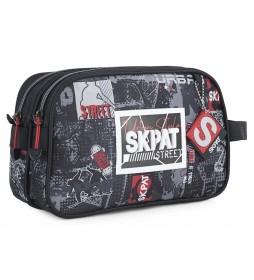 Neceser de Viaje Estampado Urbano Skater Graffiti 131627 negro -26x17x9cm-
