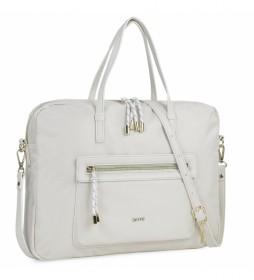 Bolso Portadocumentos con bandolera 307638 -38x29x6cm- blanco