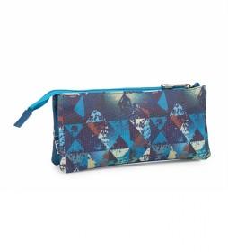SKPAT Portatodo Triple Radical color azul -23x11x3-