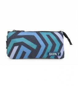 SKPAT Portatodo Triple School Line color azul -11x22x10-