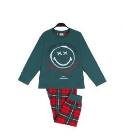 Pijama Tartan verde, rojo