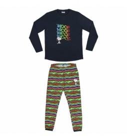Pijama largo Single Jersey Snoopy marino