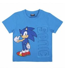 Camiseta Corta Aplicaciones Single Jersey azul