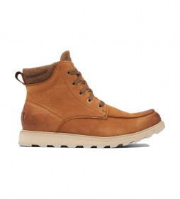 Botas de piel Madson II Moc Toe WP marrón