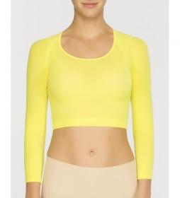 Camiseta Interior Básica de Punto Semitransparente 20155R amarillo