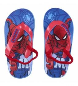 Chanclas Premium Spiderman azul, rojo