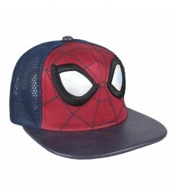 Gorra visera plana Spiderman marino