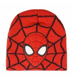 Gorro con aplicaciones Spiderman rojo