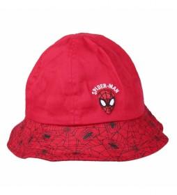 Gorro Pescador Spiderman rojo