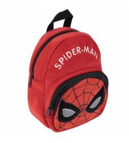 Mochila Peluche Spiderman rojo -18x22x8cm-